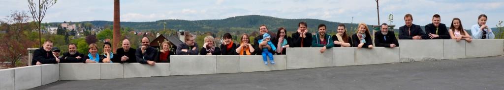 "Das Ensemble ""Neue Töne"" aus Pößneck im Mai 2015"