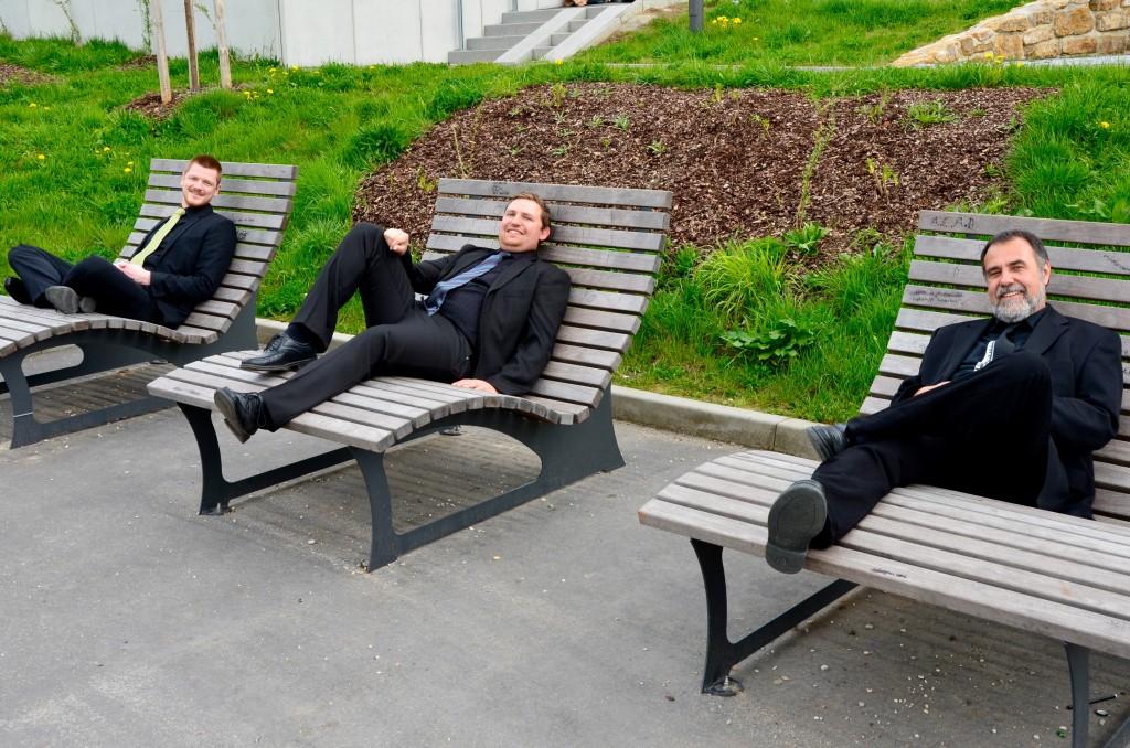 """Die drei Leiter des Ensembles """"Neue Töne"""": André Jahn """"Neue Töne – Chor"""", Markus Schwarz """"Neue Töne – Combo"""" und Thomas Hubich """"Neue Töne – Pop(ular)"""" (v.l.n.r.)"""